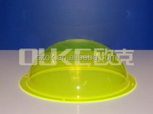 high quality hot sale yellow acrylic sphere with edge