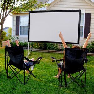 Indoor Outdoor 120 Inch 16:9 Ratio Portable Front And Rear Projection Fast Fold Projector Screen