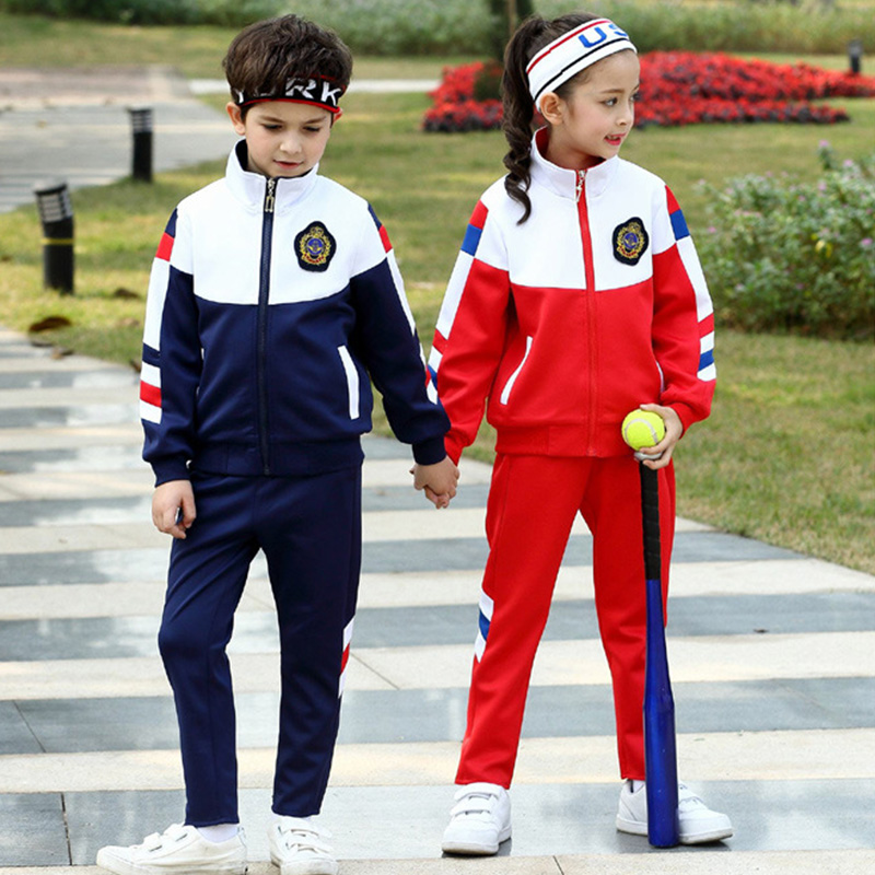 fashion autumn winter long sleeve red blue cool school uniforms cardigan tennis sportswear
