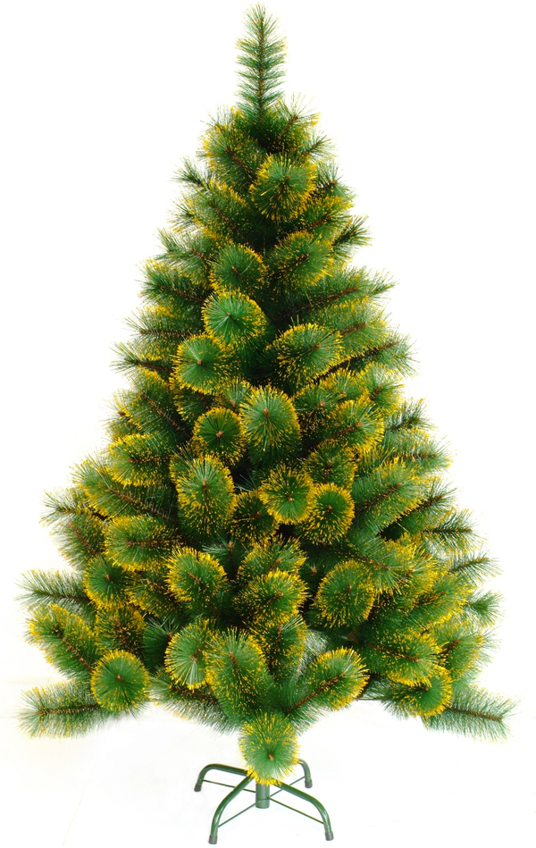 2m Mountain King Artificial Christmas Tree Red Green