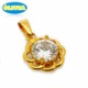 Costume jewelry wholesale gold necklace zircon big stone design crystal pendant