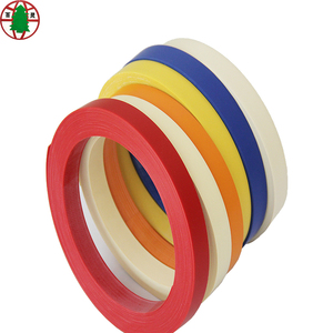 Furniture accessory 0.8*22mm solid color wood grain pvc edge banding tape for plywood