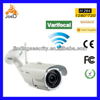 Varifocal Outdoor Infrared 36pcs IR led, 2.8-12mm lens, Waterproof IP66 Wireless WIFI IP Camera