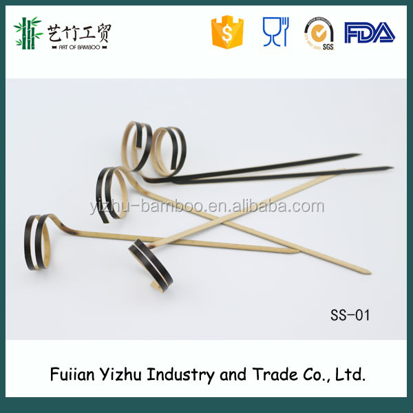 Disposable creative Bamboo looped/Ring Cocktail Skewers /Finger Skewers for decorating party