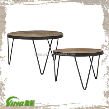 Antique Round Retail Display Table Shabby Wood Bar Restaurant Counter Vintage Handmade Coffee Table Rustic Office Meeting Table View Wood Coffee Bar