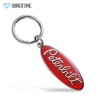 Fashion Red Oval Shaped Metal Keychains