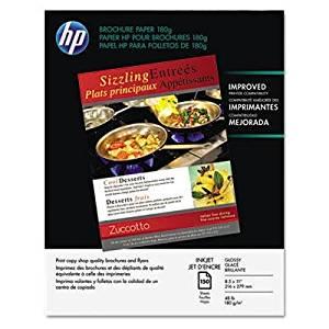Brand New Hp Inkjet Brochure/Flyer Paper 98 Brightness 48Lb 8-1/2 X 11 White 150/Pack