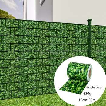 High Quality 630g M2 19cm 35m Pvc Strip Screen Garden Fence