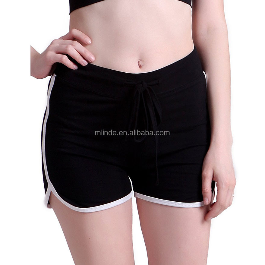 Wholesale Athletic Shorts 100 Cotton Women Yoga Gym Fitness Pants Ladies Retro Fashion Running Workout For Sport