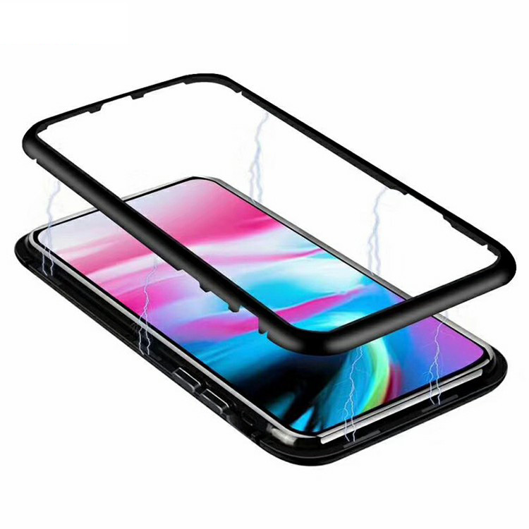 2018 Hot Tempered Glass Magnetic Adsorption Phone <strong>Case</strong> For iPhone X