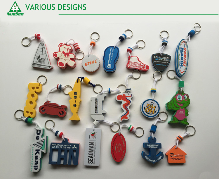 Custom advertising gift promotional EVA Foam floating key chain