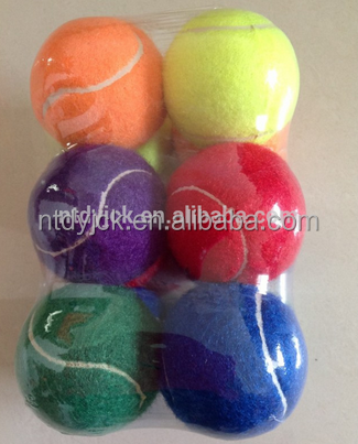 Cheap customized dog pet chewing tennis ball with logo china supplier