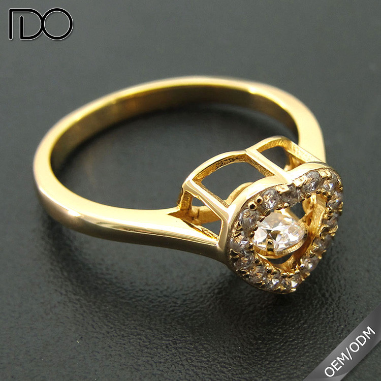 Factory price custom dancing raw diamond ring