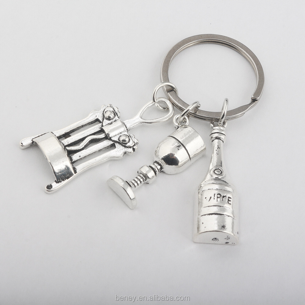 BN-E    Jewelry New Fahion Manufacturer Wholesale  Custom Silver Dental Charm KEYCHAIN keyring