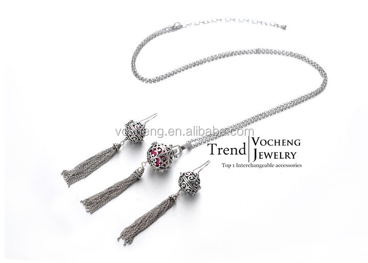 Wholesale 10sets/lot 3colors vocheng pregnant woman necklace and earring set (VA-041) Free Shipping