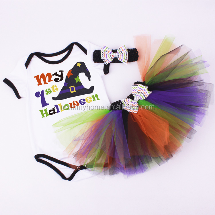 2017 Trending Halloween Clothes For Kids Romper And Tutu Outfit M7041903