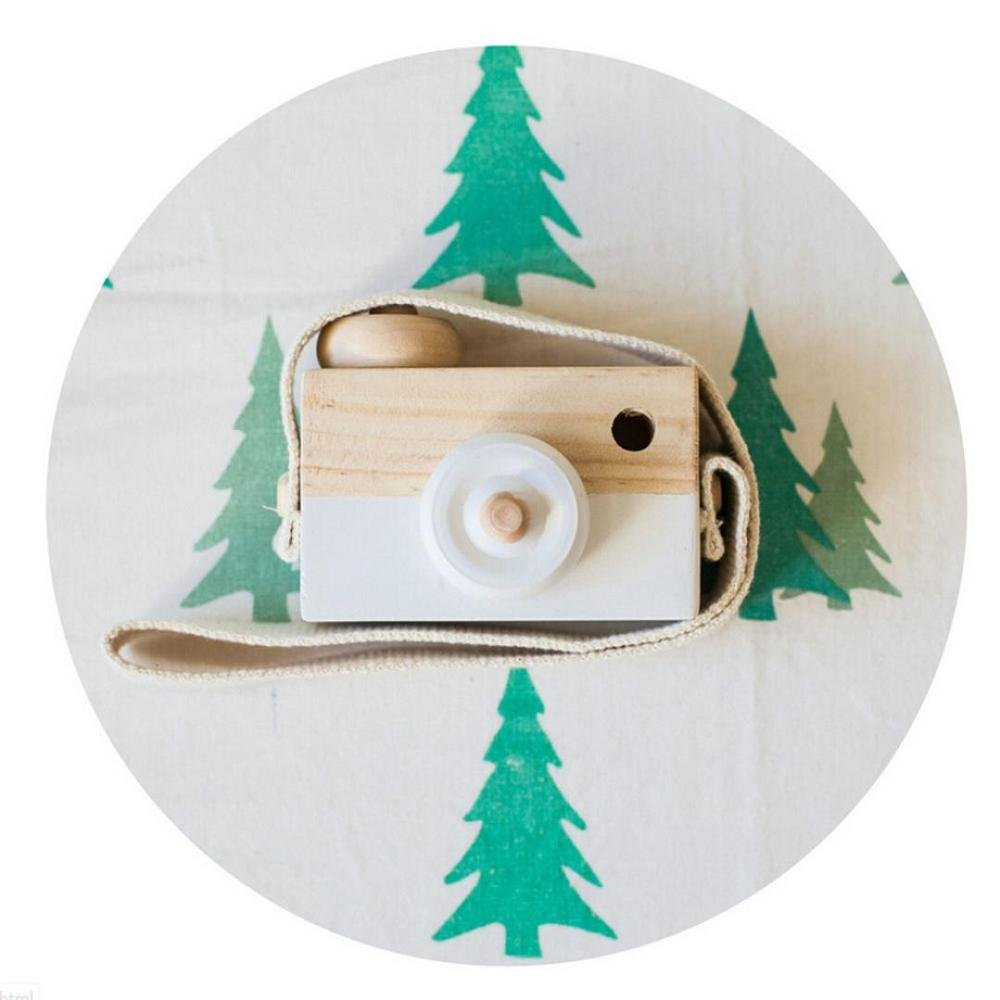 Baby Kids Toy, FTXJ Cute Wood Camera Toys Children Fashion Clothing Accessory Decoration, White