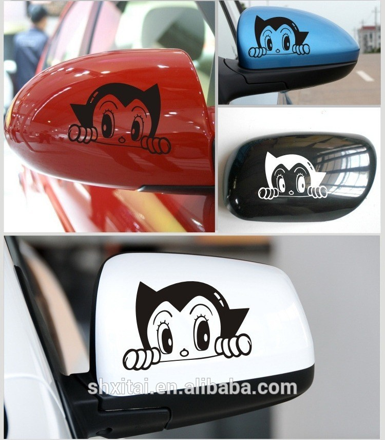 Otomatis Rearview Cermin Stiker Anime Perekat Rearview Cermin Mobil