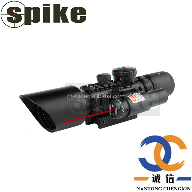Hunting rifle scope 3-10X42 with red laser Tactical Optics Scopes Riflescope