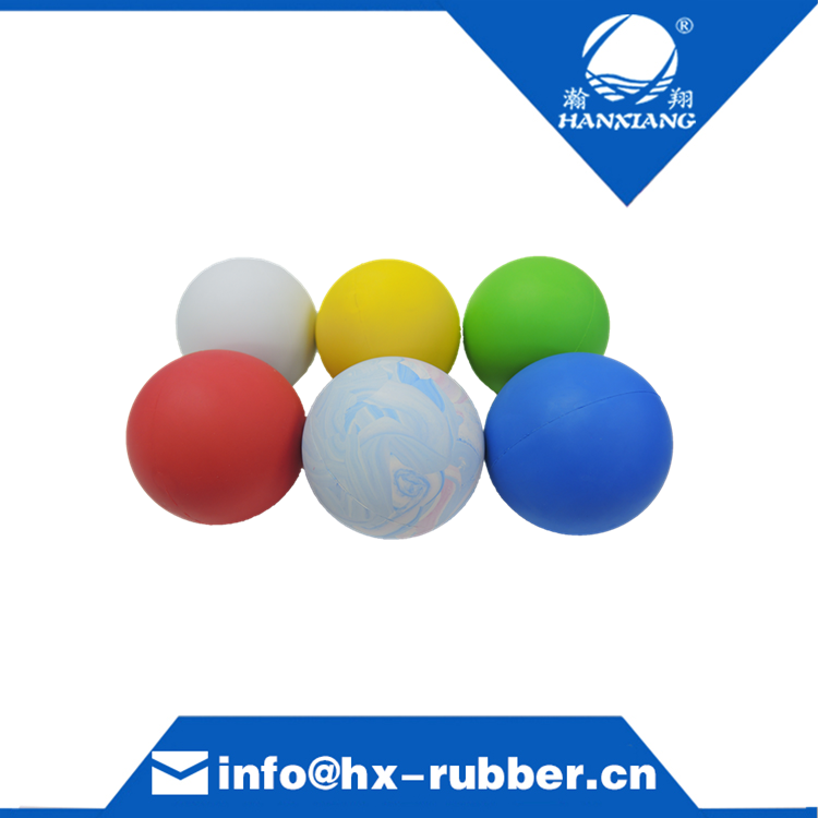 Colorful High Bouncy Rubber Ball Custom Solid Rubber Ball Hanxiang Pet Ball Wholesale