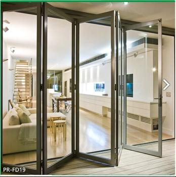 Low Cost Aluminum Glass Folding Door System Design Buy