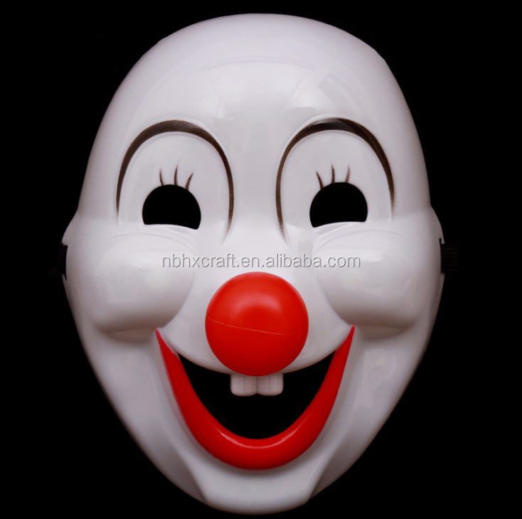 A Halloween Party Mask Funny Face Mask Of Plastic Clown Mask Red Nose   Buy  Halloween,Halloween Mask,Mask Product On Alibaba.com
