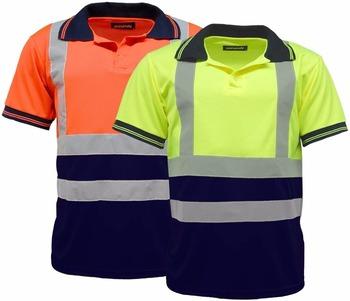 a70d8b8f4 Hombres camisas de Polo Hi Vis alta Viz visibilidad de manga corta de  trabajo de seguridad
