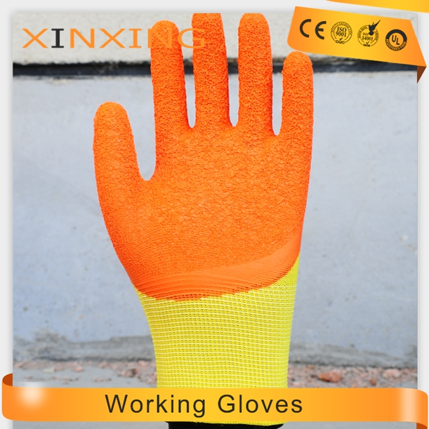 13G polyester 3/4 latex coated cheap Industrial Labor hand job working safety gloves Protective Safety Work Gloves