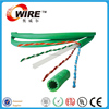 Green network cable wholesale copper cable with UL 23AWG UTP Cat 6 lan cable
