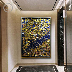 hand painting Wall Art, 3D abstract metal painting