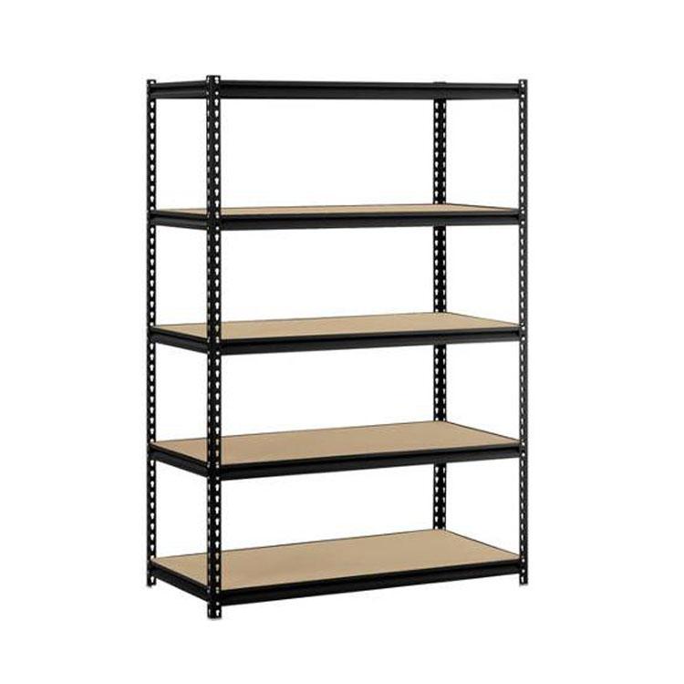 Heavy Duty Sheet Metal Rack Dry Goods Display Storage Shelf Stainless Steel Pantry Racks