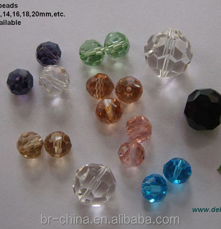 Clear crystal faceted beads for chandelier decoration accessories