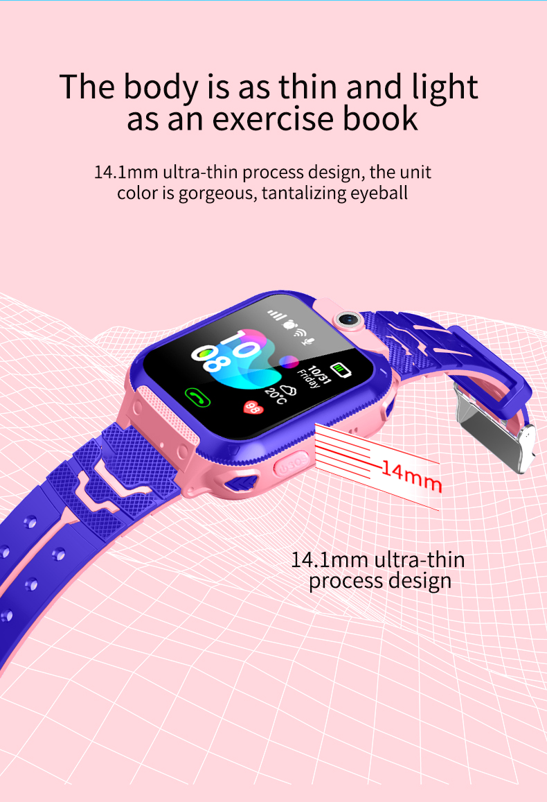 YQT Mặc Trẻ Em wifi sos gsm smartwatch gps tracker trẻ em thông minh đồng hồ cho chống mất-Q12