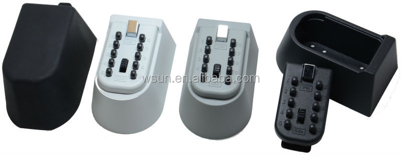 KeySafe Original 5-Key Permanent, Pushbutton, Titanium Gray