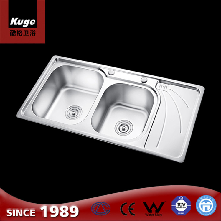 Stainless Steel Sinks Double Bowl Kitchen Basin For Hotel And Kitchen And  Restaurant - Buy Shallow Sink And Basin,Stainless Steel Kitchen Wash ...