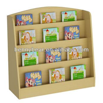 houten kinderen elementaire boekenkast voor de kleuterschool