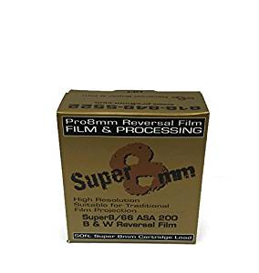 Pro8mm 019962154706 Super 8mm Film Super 8/66 Tri-X Reversal ASA 200 (Black/White)