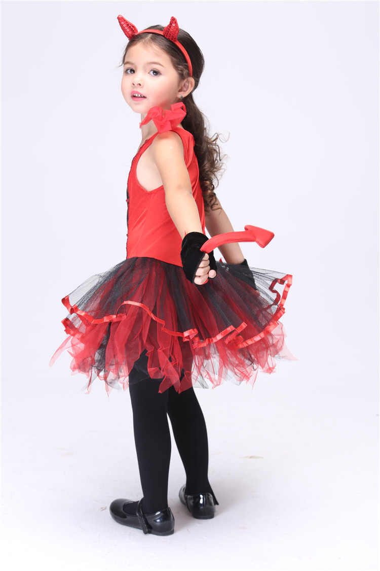 Party Dance Halloween Costume For Kids Europe Style Cat Girl Anime