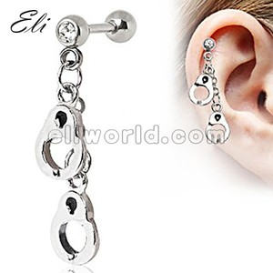 316L Dangling Tragus of Ear Cartilage Earrings Body Piercing Jewelry