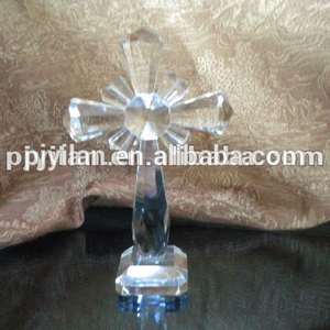 elegant Christmas crystal cross for home decoration