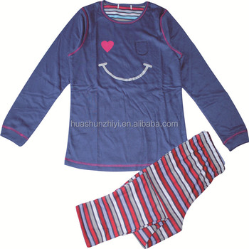OEM top sales latest girls and boys design anti shrink children sleepwear kids long sleeve cotton pyjamas