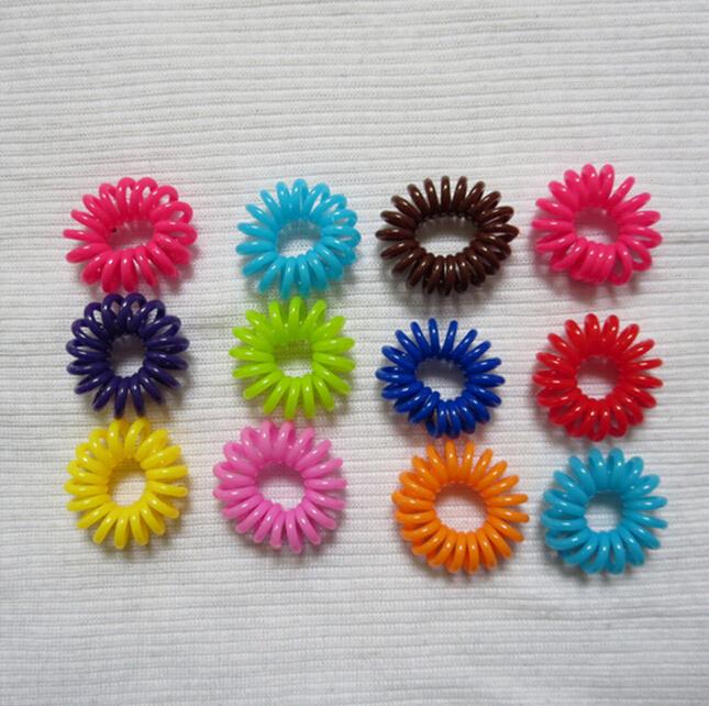 10 шт. / lot телефон шнур прорезиненная тесьма хвост держатели волос кольцо Scrunchies для девочка резина лента перевязка