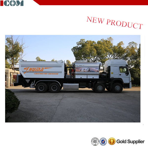 road chipping spreader construction stone chips,Full Intelligent Rubber Asphalt Synchronous Chip Sealer