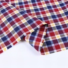 Men shirting summer yarn dyed check shirt fabric in india for shirts