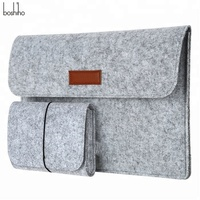 Boshiho Custom Design Slim Eco-friendly Felt Sleeve Carrying Bag Ultrabook Laptop Bag for Apple Macbook Pro