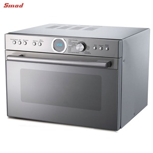34L Stainless Steel Low Noise Pull Down Open Microwave Oven with Grill