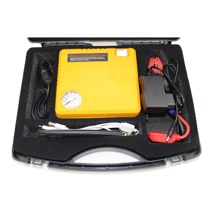 12V Car Jump Starter 16000mAh Battery with Air Pump for GAS/Diesel Vehicle