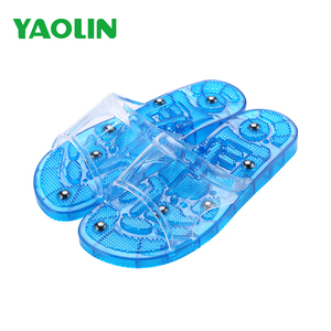PVC relaxation massager slide sandal with auto clean funtion