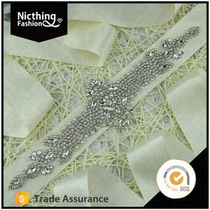 Nicthing Fashion Wholesale sequin bead patch rhinestone sew on bling beaded applique
