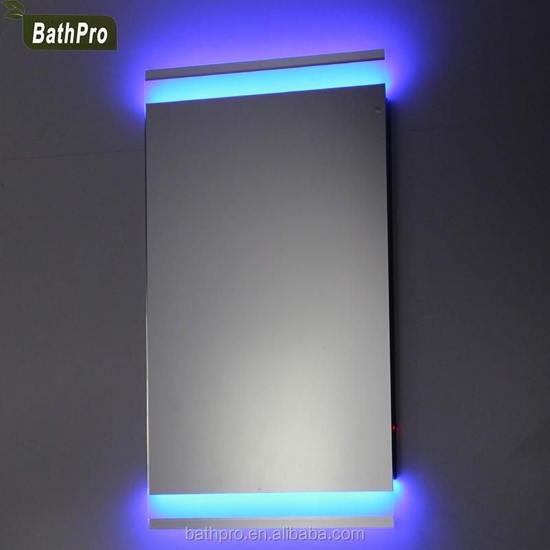 espejo del bao montado en la pared de luz de fondo cuarto de bao espejo con